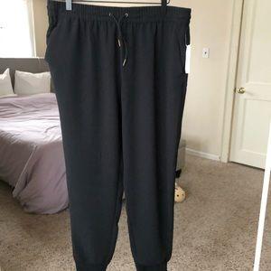 NEW black jogger pants with pockets and drawstring